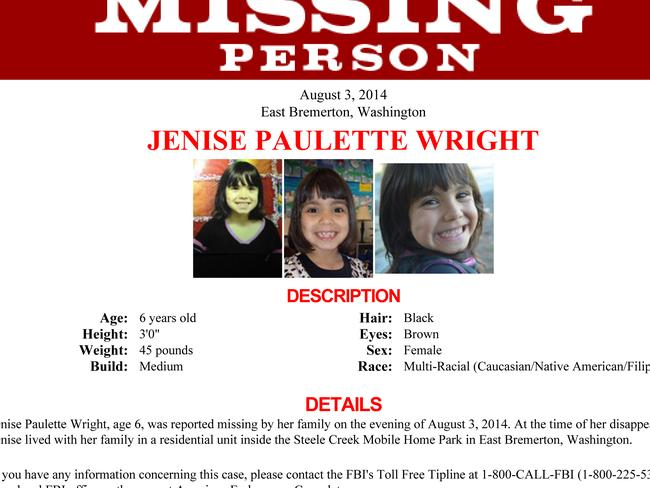 There was a massive appeal for information when Jenise Wright went missing.