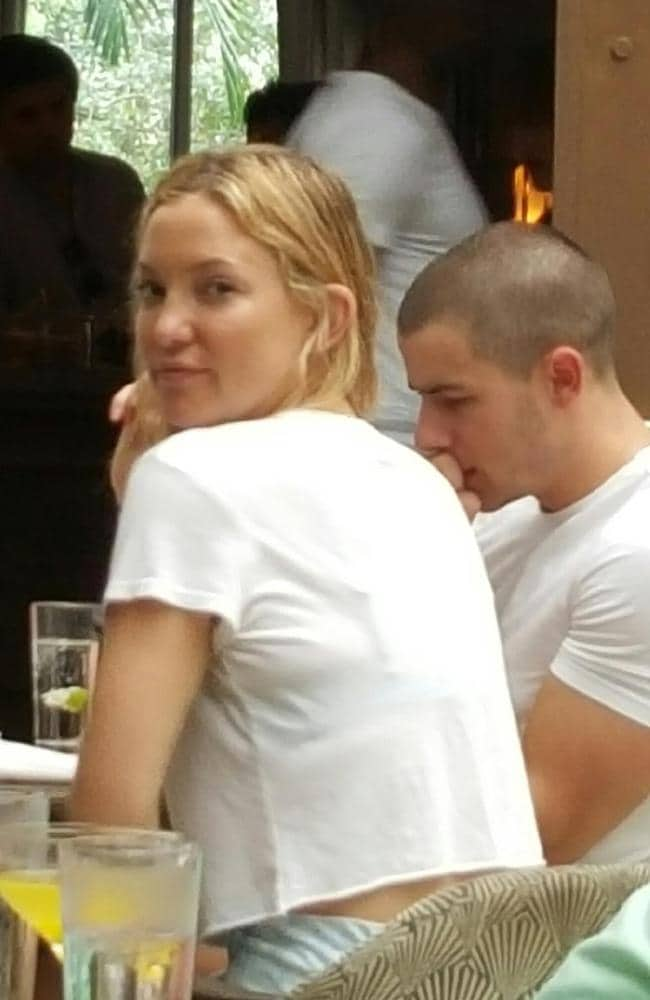 If looks could kill — Kate Hudson papped with Nick Jonas. Picture by: TMZ.com