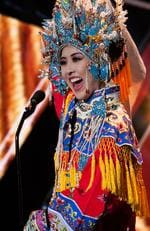 Yun Fang Xue, Miss China 2015 debuts her National Costume on stage at the 2015 Miss Universe Pagaent on December 16, 2015 in Las Vegas. Picture: HO/The Miss Universe Organization