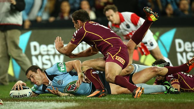 James McManus scores for NSW in the first half. Picture: Mark Evans