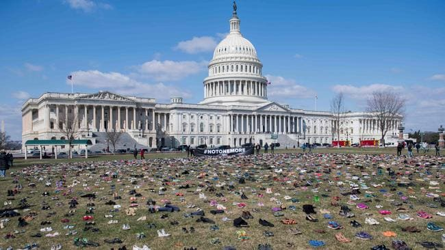 It is hoped the protest will bring politicians face-to-face with the issue of gun violence. Picture: AFP PHOTO / Saul Loeb