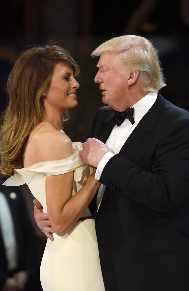 Body language expert Patti Wood said there were only a few moments that showed love between the pair. Picture: AFP/Saul Loeb.