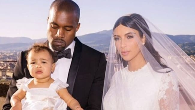 Kim wore her tresses dark for her wedding. Picture: Instagram/Kim Kardashian