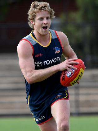 Rory Sloane was inconsistent in 2017. Picture: Tricia Watkinson