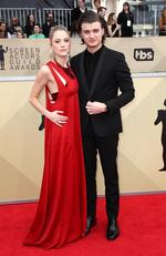 Actors Maika Monroe (L) and Joe Keery attend the 24th Annual Screen Actors Guild Awards at The Shrine Auditorium on January 21, 2018 in Los Angeles, California. Picture: Frederick M. Brown/Getty Images/AFP
