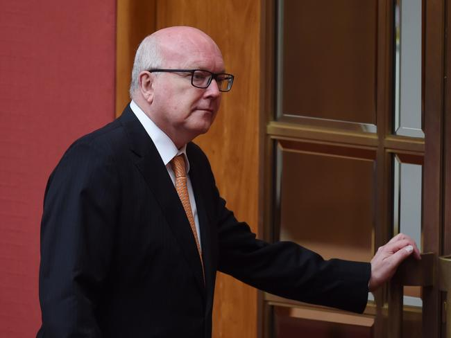 Australia's Attorney-General George Brandis also denied there was any connection between the Bell Group case and WA's GST woes. Picture: AAP