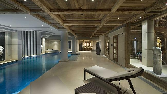 The spa floor includes a pool and jacuzzi as well as a bar and relaxation area.