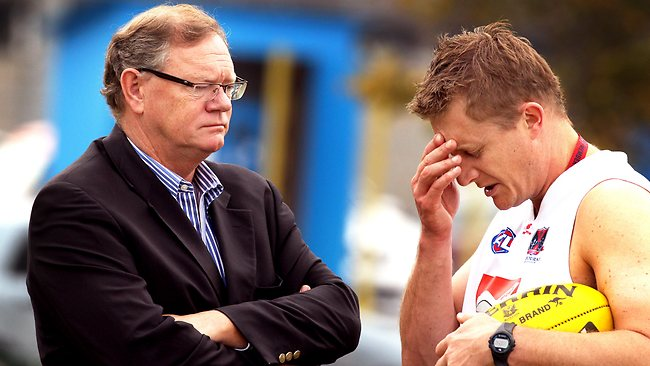 Melbourne president Don McLardy and coach Mark Neeld.