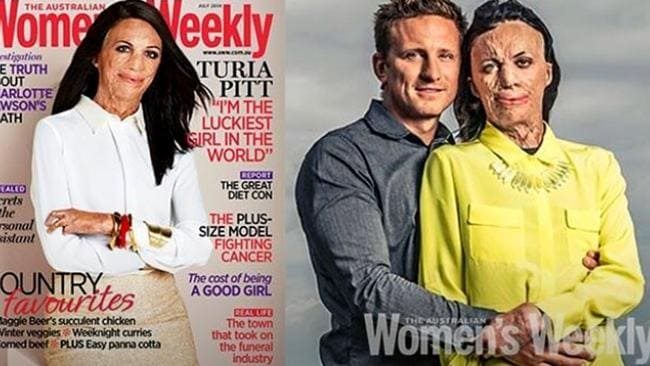 Turia on the cover of Australian Women's Weekly.
