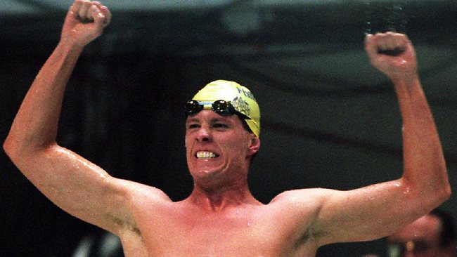 Kieren Perkins was ecstatic after winning the men's 1500m at the 1996 Atlanta Olympics in Atlanta. And so were we.