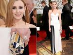 2014 Golden Globes arrivals at the Beverlly Hilton: Downton Abbey's Laura Carmichael. Picture: Getty