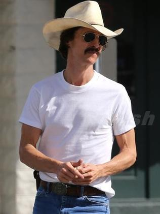 Matthew McConaughey previously went the other way, losing heaps of weight for Dallas Buyers Club. Picture: Splash News / Deano