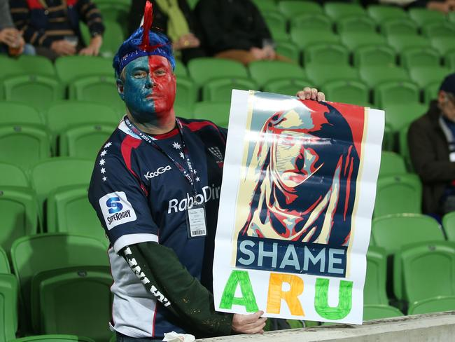 A disgruntled Rebels supporter.
