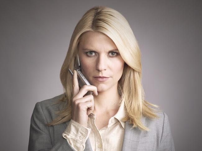 Actor Claire Danes in  <i>Homeland</i>, another popular target for online pirates.