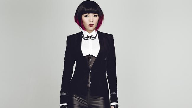 Dami Im loves playing with quirky fashion to create her different looks. Picture: Peter Brew-Bevan