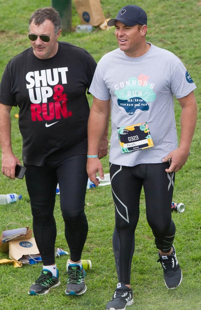 The running equivalent of budgie smugglers. Picture: Splash News Australia