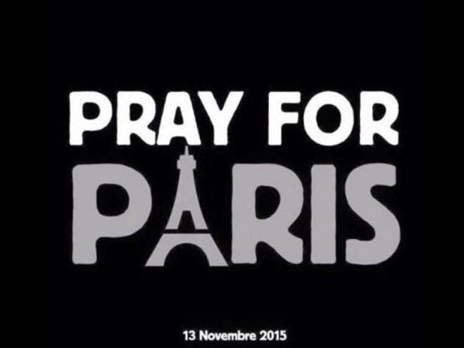 Popular ... Social media started sharing this Pray for Paris image. Picture: Supplied