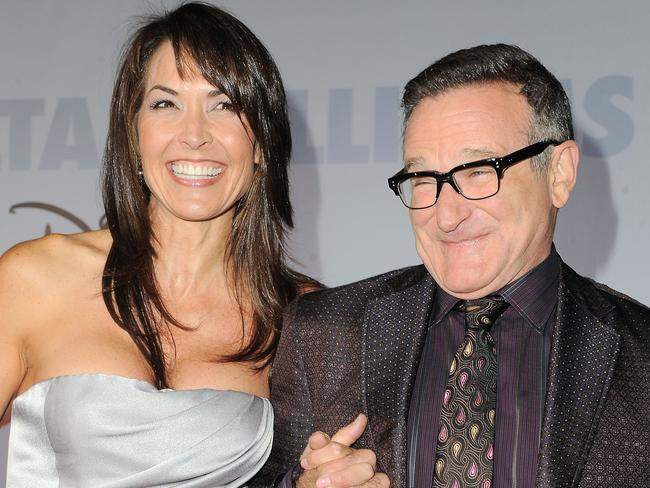 "Love of his life ... Robin Williams and wife Susan Schneider at the premiere of ""Old Dogs"" in Los Angeles. Pic: AP Photo/Katy Winn"