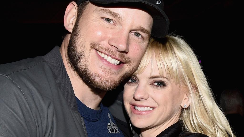 Chris Pratt (L) and Anna Faris in 2015. Picture: Getty