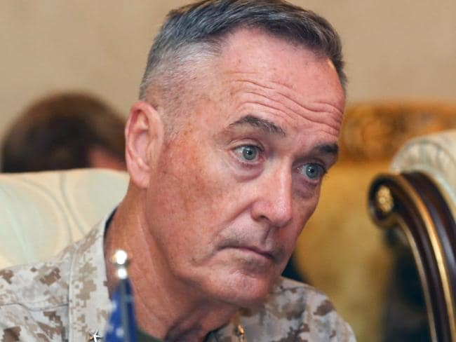 US Chairman of the Joint Chiefs of Staff US Marine Gen. Joseph F. Dunford Jr has been talking to Turkish officials. Picture: AFP