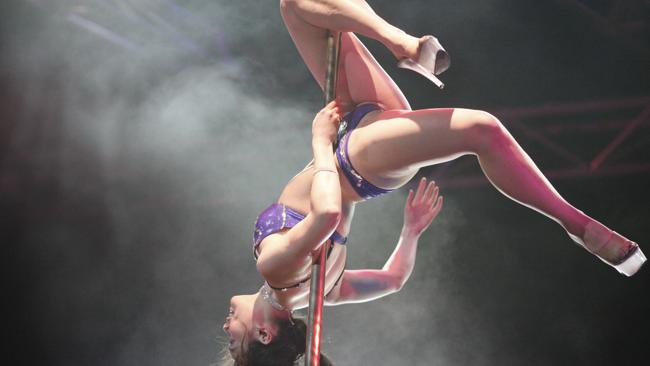 Graduation? The Miss Pole dance Australia competition. Picture: News Limited Network