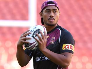 Anthony Milford looks on during the Queensland State of Origin team training session in Brisbane, Tuesday, May 23, 2017. First match of the State of Origin takes place on Wednesday, 31 May. (AAP Image/Dave Hunt) NO ARCHIVING