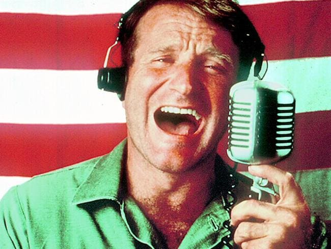 Actor Robin Williams in 1987 film Good Morning Vietnam.