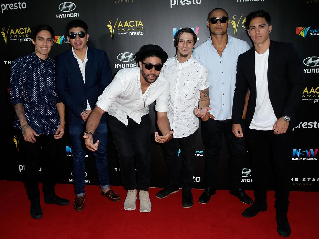 Members of Justice Crew arrive ahead of the 5th AACTA Awards Presented by Presto at The Star on December 9, 2015 in Sydney, Australia. Picture: Getty