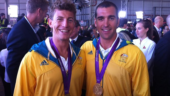 Gold medal winners Murray Stewart and Tate Smith. Picture: Ross Schultz