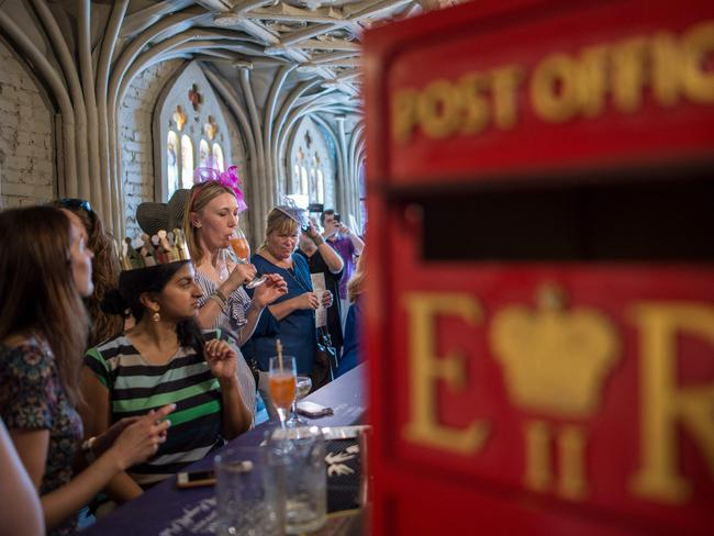 Revellers at the Washington pop-up bar. Picture: AFP Photo / Andrew Caballero-Reynolds