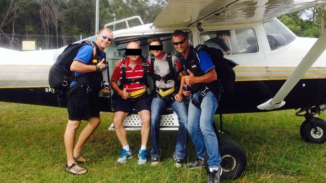 Victims Juraj Glesk (left) and Glenn Norman (right) in a Facebook pic taken at a skydiving trip.