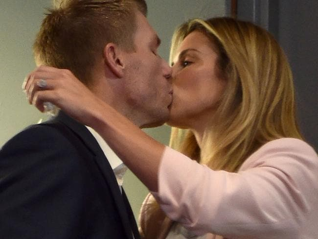 Candice Warner spoke of the blame she put on herself around the cricket scandal, which led to her husband being sacked as the Australian vice-captain. Picture: AFP.