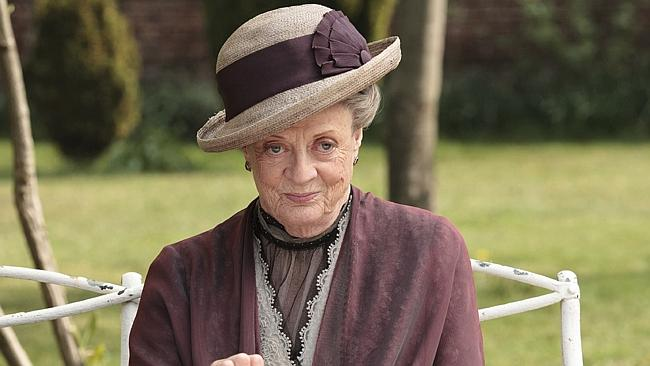 Maggie Smith as the Dowager Countess Grantham.