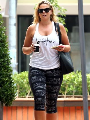 Fiona hit the gym yesterday. Picture: Diimex