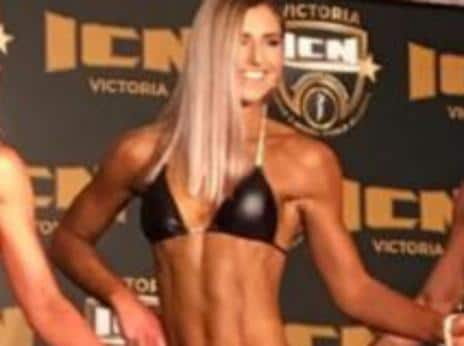 Frances Abbott makes her bodybuilding debut. Picture: notanotherfitnessblogger