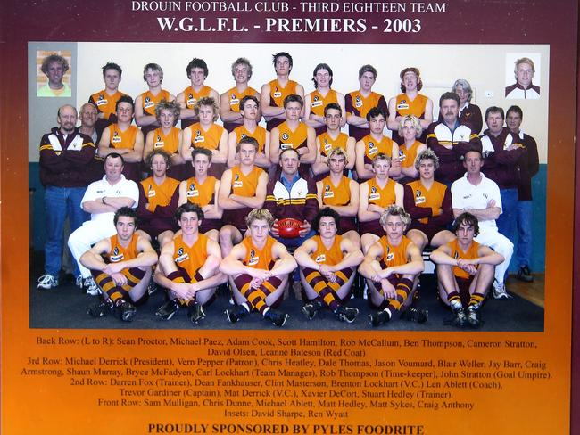 The Rise of Dale Thomas. Drouin Third Eighteen Team Premiers Dale Thomas Third Row 4th from Left.