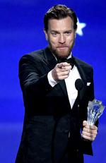 Ewan McGregor accepts Best Actor in a Movie/Limited Series for 'Fargo' onstage during The 23rd Annual Critics' Choice Awards at Barker Hangar on January 11, 2018 in Santa Monica, California. Picture: Getty