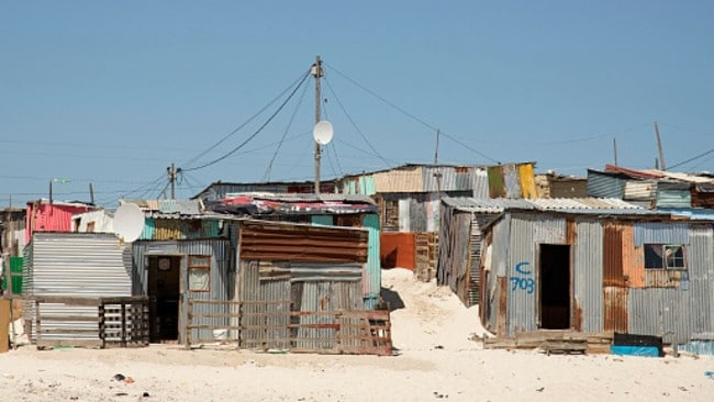 South Africa's shanty towns, known as 'informal settlements', like this one near Cape Town, are crawling with illegal abortion clinics and criminals masquerading as doctors. Picture: Megan Palin.