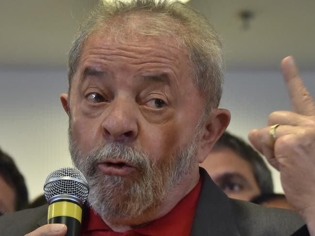Brazil's former president Luiz Inacio Lula da Silva will defend accusations of corruption as his hopes of a political comeback are shattered. Picture: AFP / Nelson Almeida