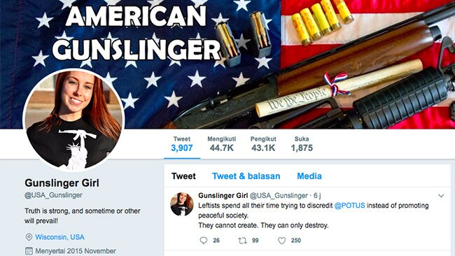 Gunslinger Girl ... one of 4500 social media accounts designed to make Moscow's propaganda messages go viral.