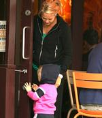 <p>Bec Hewitt goes shopping while in Wimbeldon for the the tennis championships Pic. LONDON BUREAU</p>