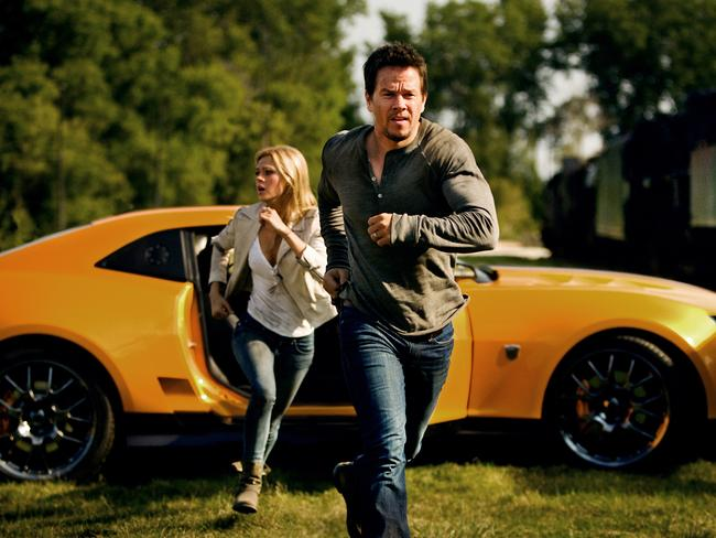 Transformers stars Mark Wahlberg and Nicola Peltz.