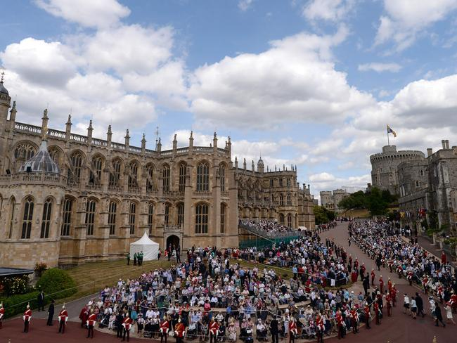 St George's Chapel, Windsor Castle in southern England, where Prince Harry and Meghan Markle are set to marry. Picture: AFP