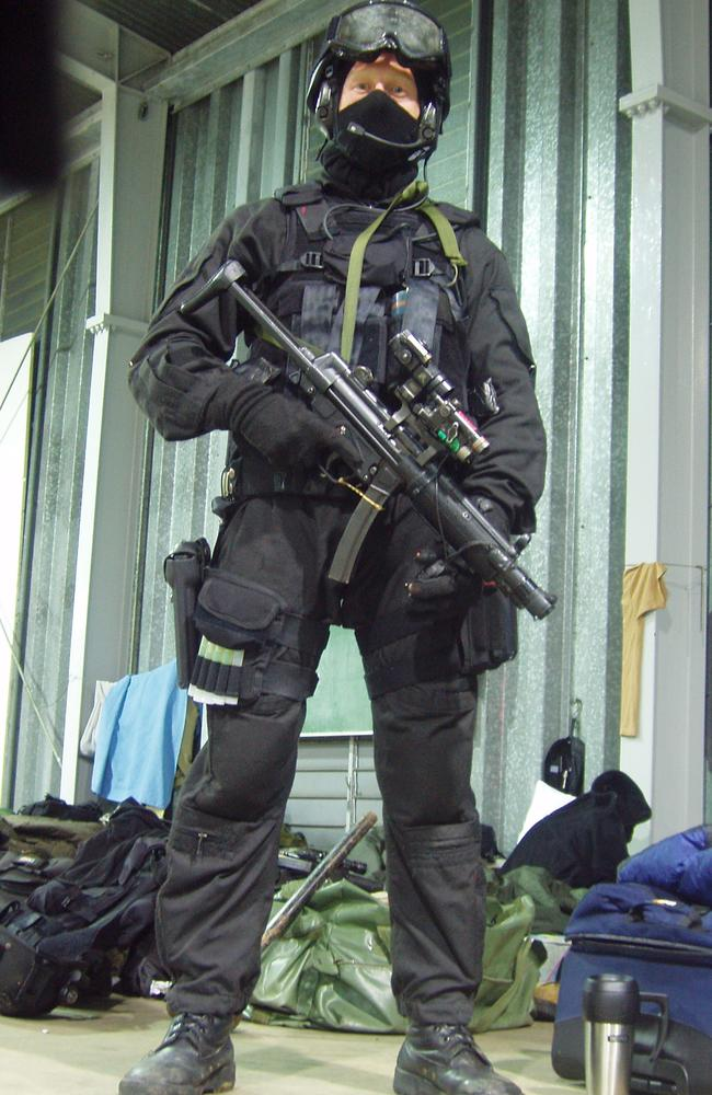 Ready for action ... A picture showing an SASR trooper during counter terrorism training in 2005. Source:: Department Of Defence