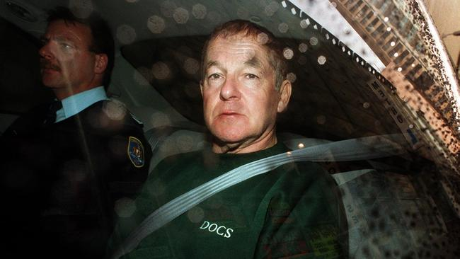 Bank robber and infamous prison escapee John Killick after he appeared in court, May 1999.
