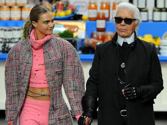 """Pop art...Lagerfeld said he was drawn to the idea of reflecting """"the everyday in luxury"""""""