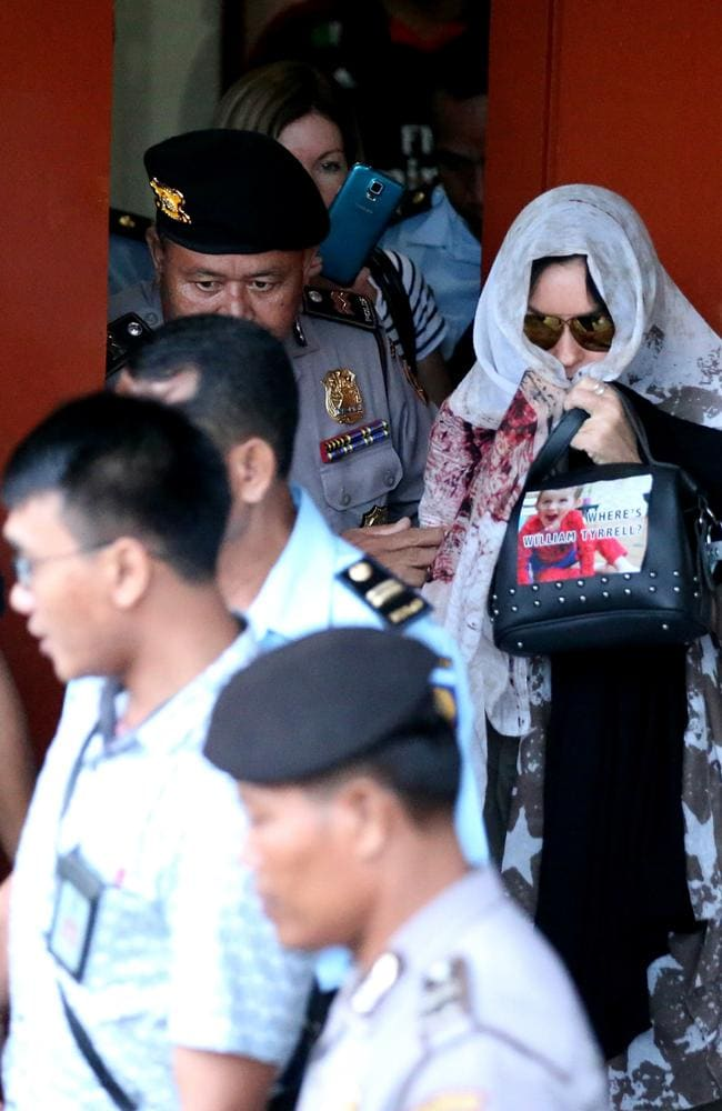 Schapelle Corby leaves the Prosecutors office in Denpasar a free woman. Picture: Nathan Edwards