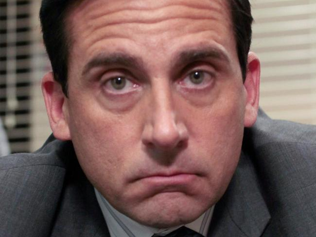Actor Steve Carrell in a scene from TV series 'The Office'.