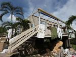 John and Patricia Stapyra's Cooktown house lost its roof.