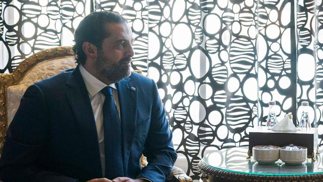 Lebanon's former prime minister Saad Hariri, who abruptly announced his resignation in a televised speech from Riyadh, said he feared for his life and accused Saudi Arabia's arch-rival Iran and its Lebanese ally Hezbollah of taking over his country and destabilising the broader region. Picture: AFP